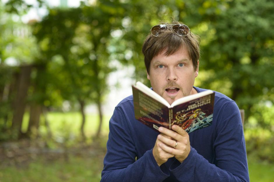 Mattias Olsson på bokfest hos bokförlaget Opal